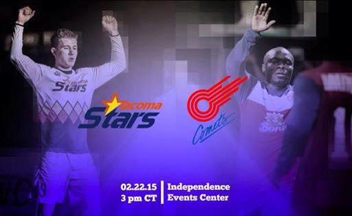 Sunday Soccer: Tacoma Stars at Missouri Comets 5pm CT