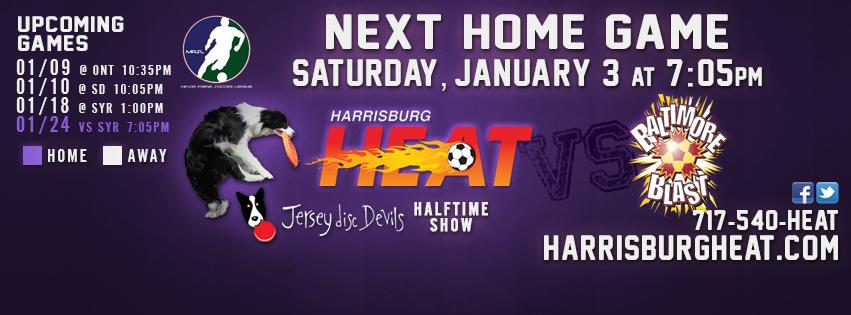 Jan 3rd: Baltimore at Harrisburg