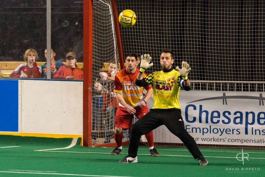 Chicago Mustangs at Baltimore Blast in arena soccer action