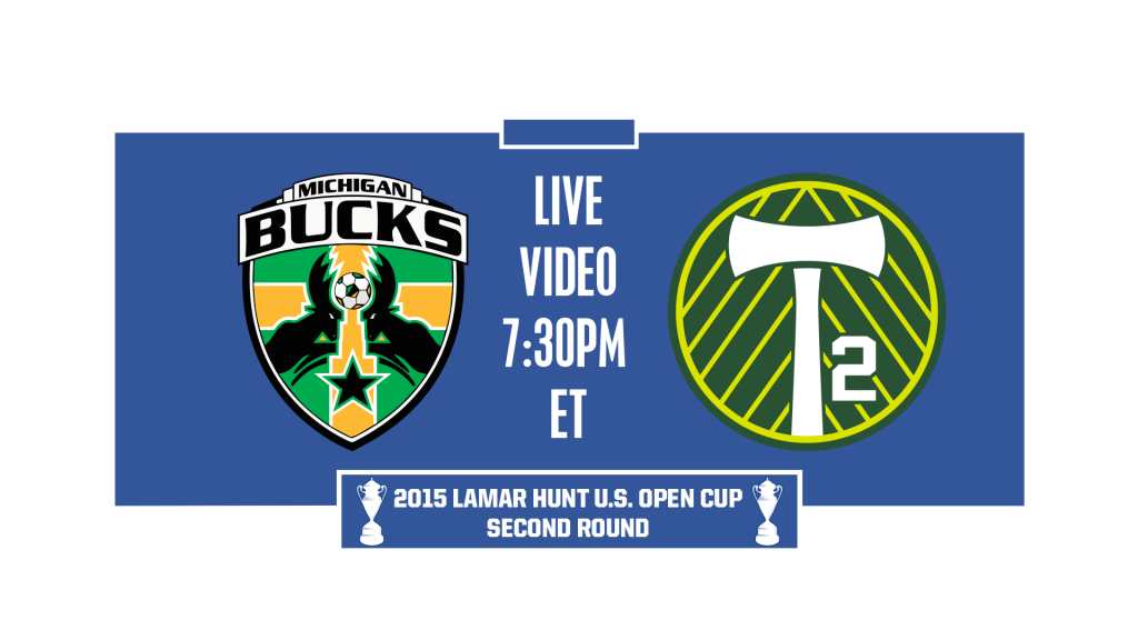 Michigan Bucks advance to play Portland Timbers 2 (USL) in Round 2 7:30pm ET